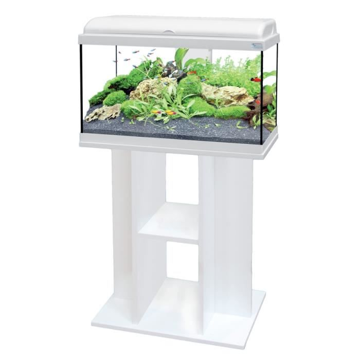 Ensemble aquarium aquadream 60 blanc led meuble achat for Meuble 60x40