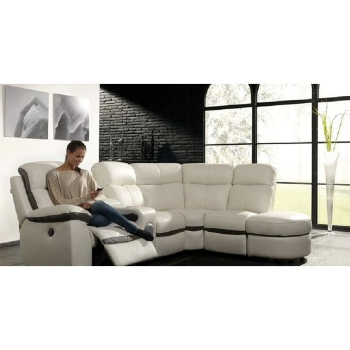 canap dangle relax lectrique achat vente canap sofa divan cdiscount. Black Bedroom Furniture Sets. Home Design Ideas