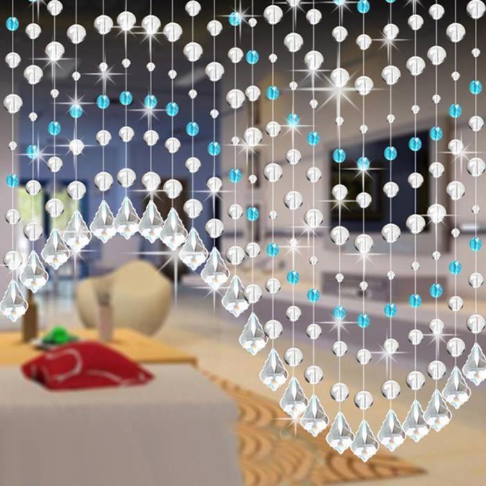 RIDEAU Cristal Verre Rideau Perle Luxe Salon Chambre Fenê