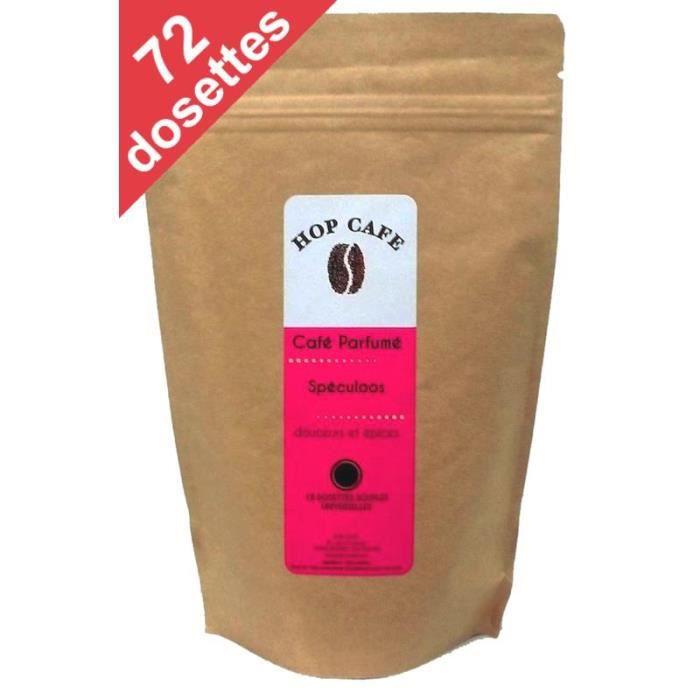CAFÉ Pack 72 dosettes de Café aromatisé Spéculoos pour