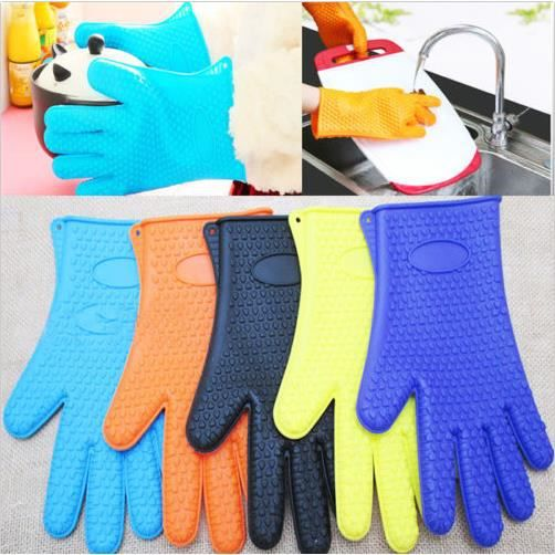 1pcs gant de cuisine silicone anti chaleur couleur al atoire achat vente gants de cuisine. Black Bedroom Furniture Sets. Home Design Ideas