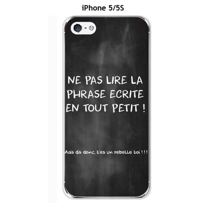 Coque Apple iphone 5 - 5S - 5SE design Citation