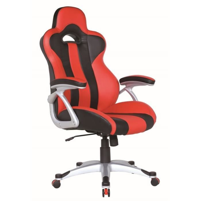 fauteuil de bureau si ge baquet achat vente chaise de bureau rouge cdiscount. Black Bedroom Furniture Sets. Home Design Ideas