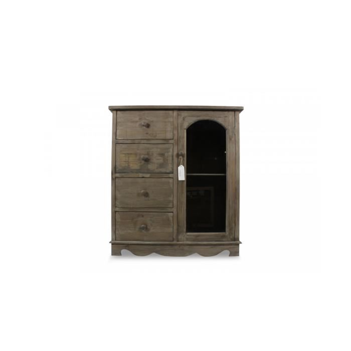 meuble bas rangement bois 4 tiroirs 80x40x90cm achat vente buffet bahut meuble bas. Black Bedroom Furniture Sets. Home Design Ideas
