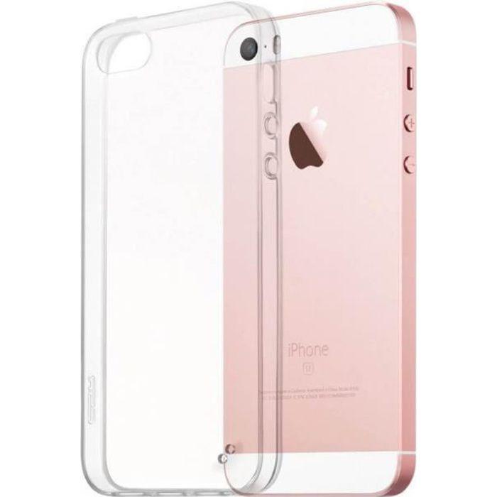 Coque silicone iphone 5s transparente souple ultra fine