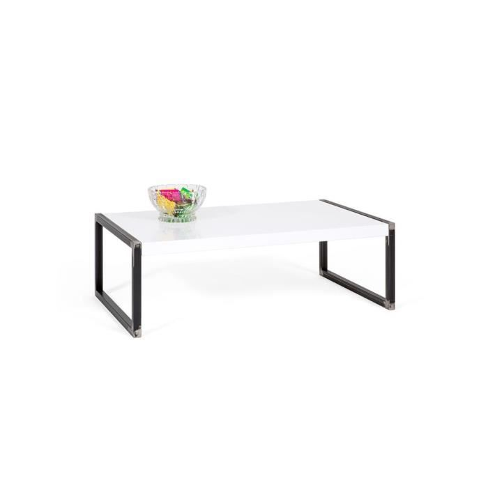TABLE BASSE Mobilifiver Table basse, Luxury, Blanc brillant, 9