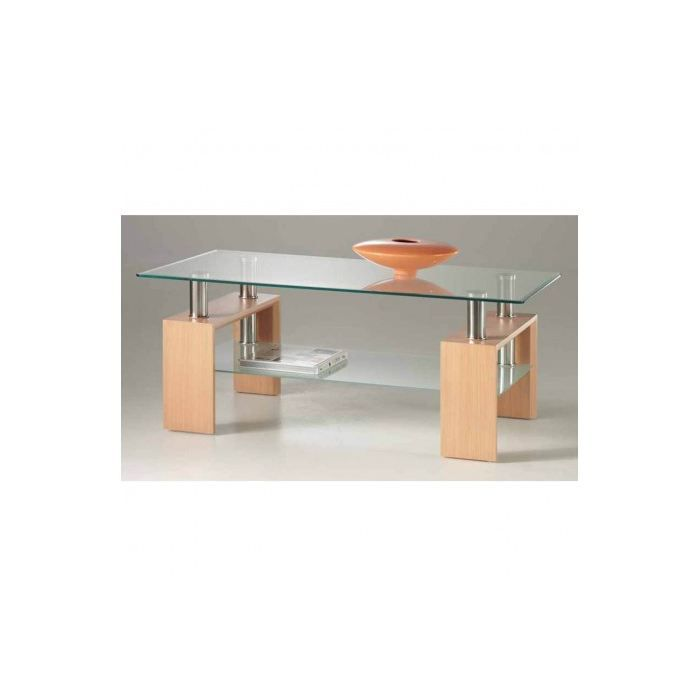 Table basse en verre design ch ne x achat - Tables basses en verre design ...
