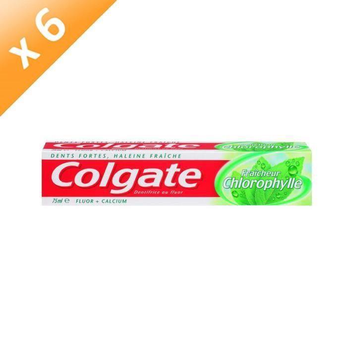 DENTIFRICE COLGATE Dentifrices Chlorophylle - 75 ml - Lot de