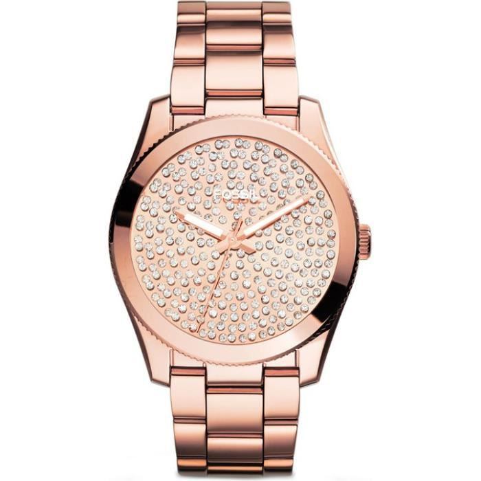 Montre Dame Fossil Perfect Boyfriend Es3690 Bracelet Métal Or Rose