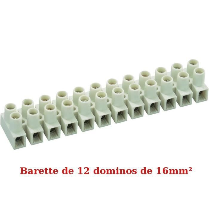 domino lectrique de 16 mm barrette de 12 achat vente domino barrette domino lectrique. Black Bedroom Furniture Sets. Home Design Ideas