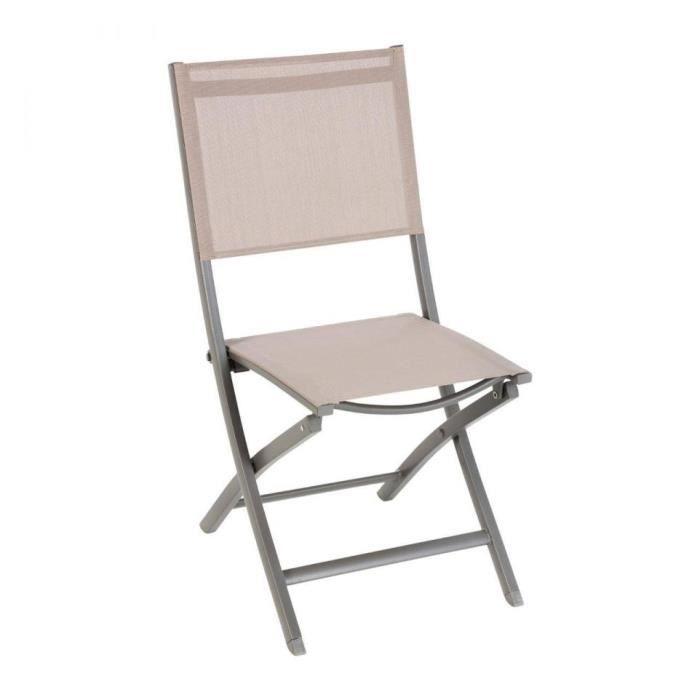 Hesp/éride Chaise pliante Modula taupe//taupe