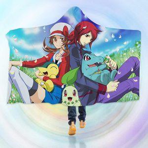 COUVERTURE - PLAID 3D Hooded Blanket for Pokemon 8235  Couverture à C