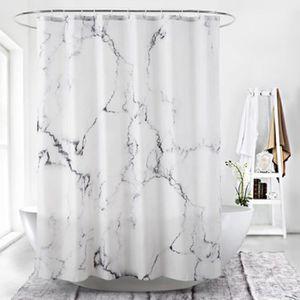 Polyester Rideau de douche anti-moisissure /Étanche avec 12 anneaux de rideau 80 x 180 cm lavable 100/% polyester /à pois antibact/érien