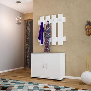MEUBLE D'ENTRÉE Meuble d'entrée vestiaire Fulya - L. 72 x H. 72 cm