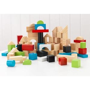 ASSEMBLAGE CONSTRUCTION 100 pieces de blocs et cubes de construction en bo