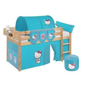 LIT COMBINE  Lit surélevé ludique JELLE Hello Kitty turquoise -