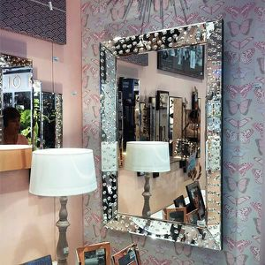 Miroir strass swarovski elements achat vente miroir for Grand miroir pas cher