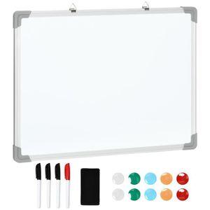 TABLEAU - PAPERBOARD Tableau blanc aimante magnetique cadre aluminium 6