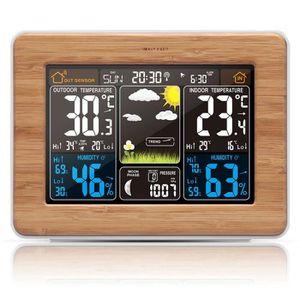 STATION MÉTÉO Radio réveil numérique Baromètre d'humidité de la