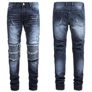 JEANS PANTALON Moto-Biker loose Jeans d'homme nouveau mo