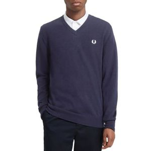 FRED PERRY Pull Homme XXL Bleu Coton Tricote
