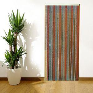 RIDEAU DE PORTE Rideau de porte tricolor en perles en aluminium 21