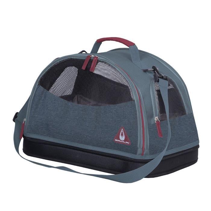 DUVO+ Sac de transport Paris Travel Bag 3in1 - Bleu - 44 x 31 x 31 cm - 0,67 kg - Pour chien