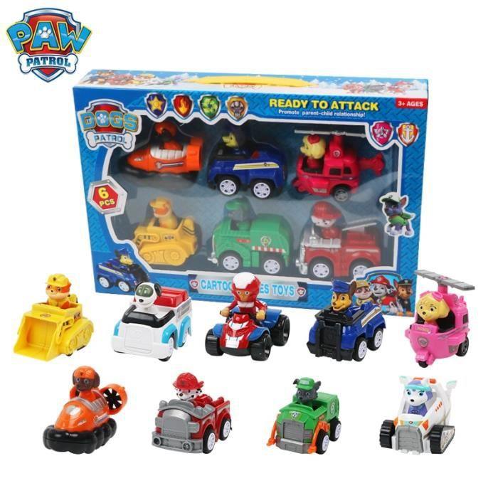 9 pièces patte patrouille jouets ensemble chien chiot patrouille voiture de sauvetage Patrulla Canina figurines d'action modèle joue