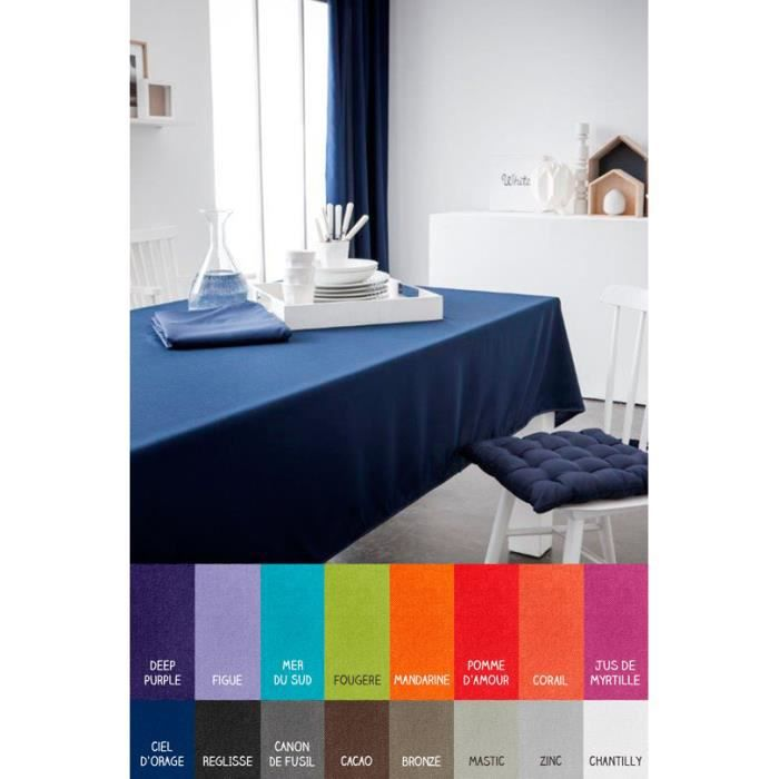 Nappe rectangle - 150 x 250 cm - Today - Différents coloris Ciel d'orage