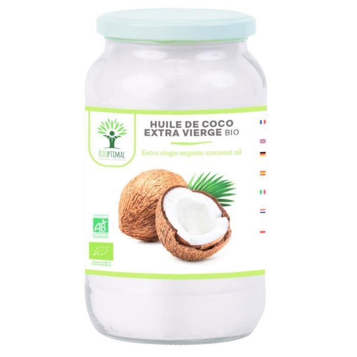 Huile de Noix de Coco Extra Vierge Naturelle - Pour Cheveux Corps Peau Visage Lèvres - Cuisson des Aliments 1Kg