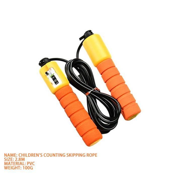 Corde à sauter avec contre-poids haute vitesse corde à sauter corda comba crossfit corde à - Modèle: Children orange - HSJSTSA01108