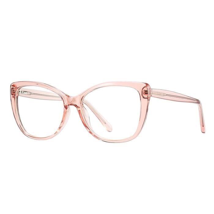 Montures de Lunettes de vue,Lunettes transparentes femmes œil de chat Monture de lunettes optiques pour femmes, faux - Type pink