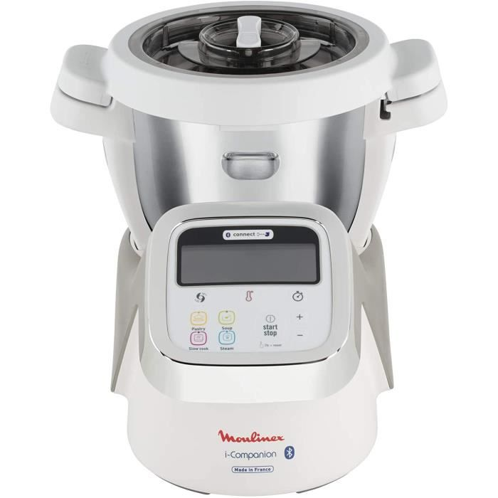 Moulinex i-Companion Robot Cuiseur Multifonction Connecté, 4 Programmes Automatiques, 4 Accessoires Inclus, Capacité jusqu'à 6 Perso