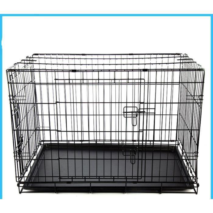 Cage de chat en métal, cage pliante de chien de fil pour animaux de compagnie, petite cage pour animaux