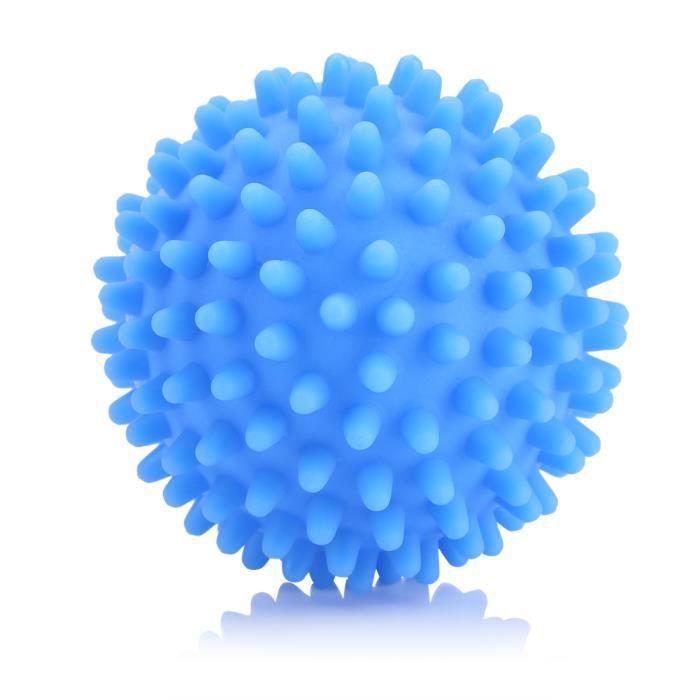 4pcs boules de dessiccateur réutilisables PVC lavage linge séchage balle d'assouplissant bleues