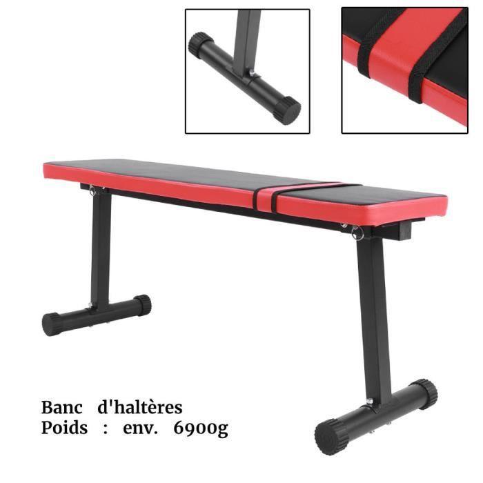 PET-93-Banc Haltérophilie Plat pour Musculation - Multi Functional Sit Up Fitness Bench Tabouret De Remise en Forme