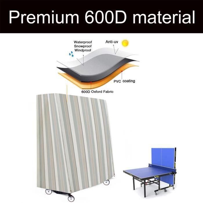 152x71x160cm Housse de table de ping-pong Table Tennis De Table Protecteur extérieur tissu oxford 600D YAN