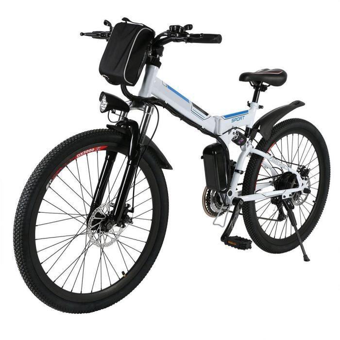 Vélo électrique Vélo de montagne de puissance électrique pliable vitesse 26'' roue avec batterie Lithium-Ion