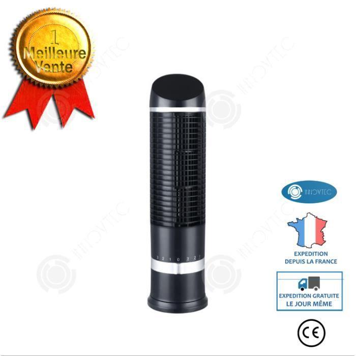 INN® Ventilateur de tour Petit ventilateur de tour portable Secouant la tête Ventilateur électrique sans lame de bureau Mini ventila