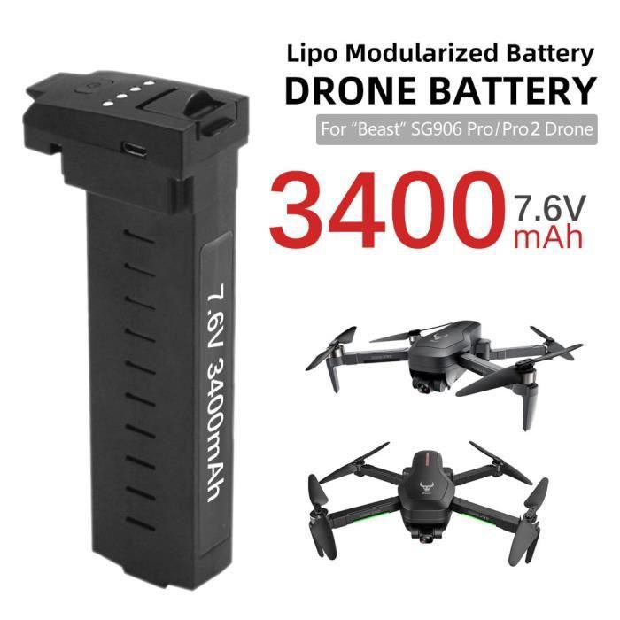 Compatible avec la batterie de drone SG906 Pro Pro2 7,6 V 3400 mAh 28 minutes d'autonomie de la batterie batterie au lithium-107