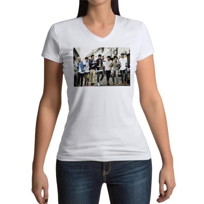 T-shirt Femme Col V Got 7 Get Excited Singles Seoul Kpop Stars Coree