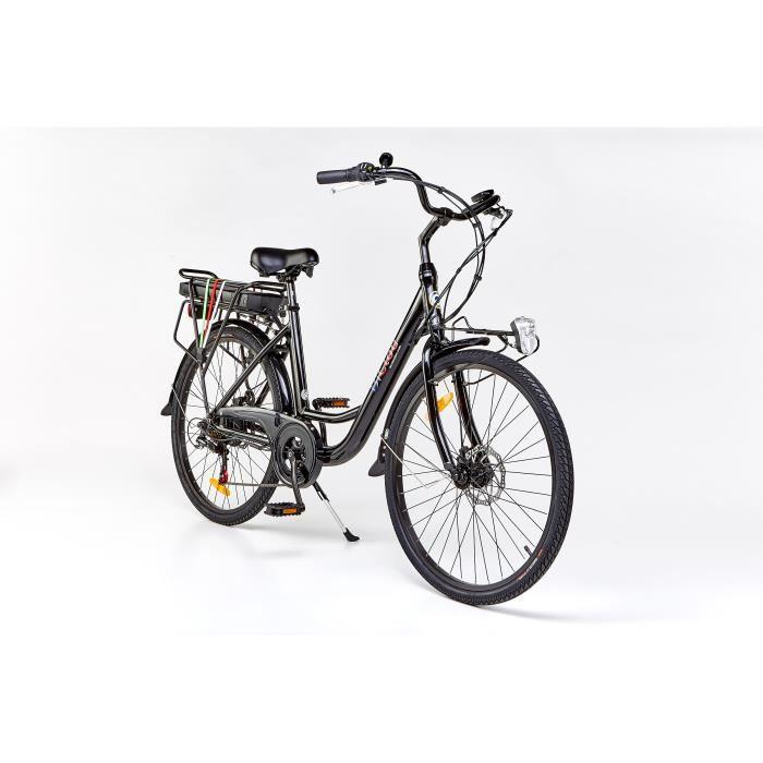 Vélo électrique BiClou Porteur 26 noir : mot. roue arrière 250W batterie 280Wh - roues 26 pouces - autonomie 40km - garanti 3 ans
