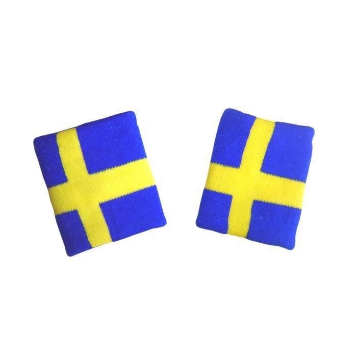 LOT 2 Bracelets poignet éponge 100% coton SUEDE SUEDOIS Sport Football Jogging Tennis - No maillot drapeau écharpe fanion casquette