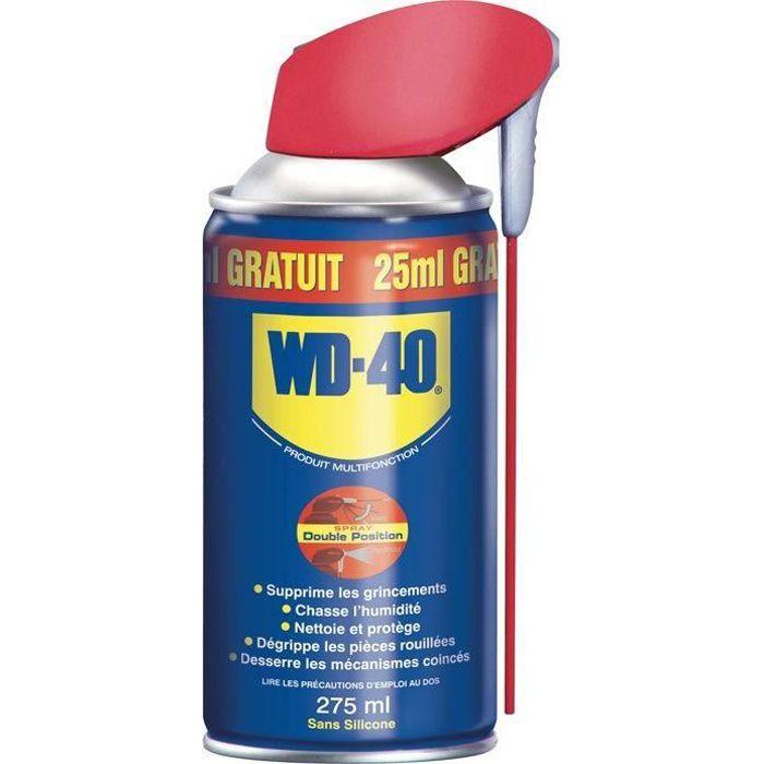 WD-40 Produit Multifonction Spray Double Position - 250 ml + 25 ml gratuit