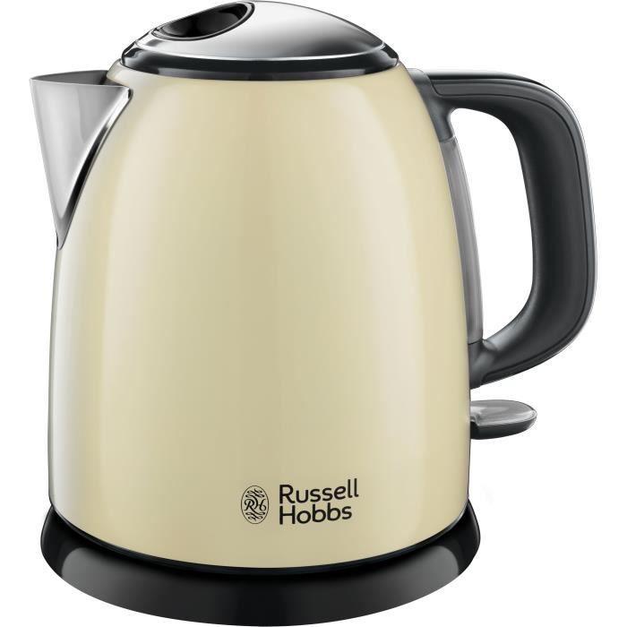 RUSSELL HOBBS 24994-70 Bouilloire 1L Compacte Colours Plus, Rapide, Filtre Anti-Calcaire Amovible, Niveau Eau Visible - Crème