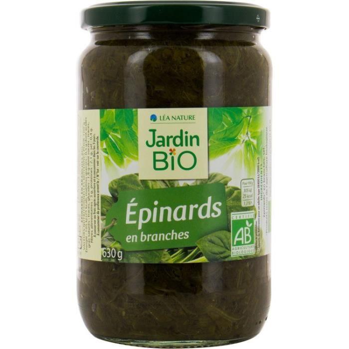 JARDIN BIO Epinards branche bio 630g