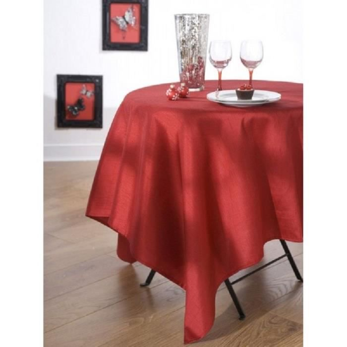 nappe en tissu 150x350 cm effet soie rouge achat vente. Black Bedroom Furniture Sets. Home Design Ideas