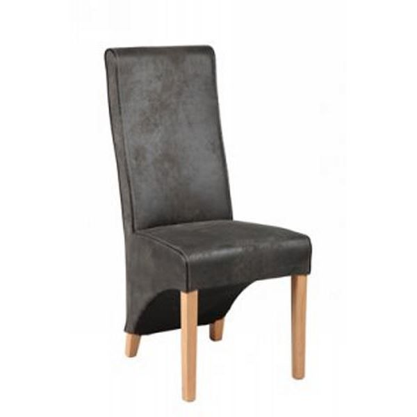 chaise microfibre grise achat vente chaise ch ne. Black Bedroom Furniture Sets. Home Design Ideas