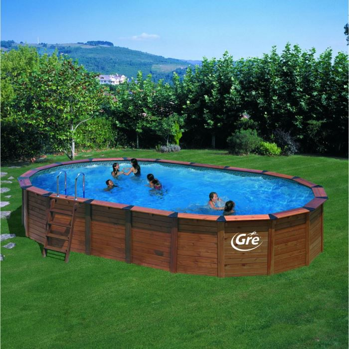 piscine gre island hors sol bois natur pool ova achat vente kit piscine piscine gre island. Black Bedroom Furniture Sets. Home Design Ideas