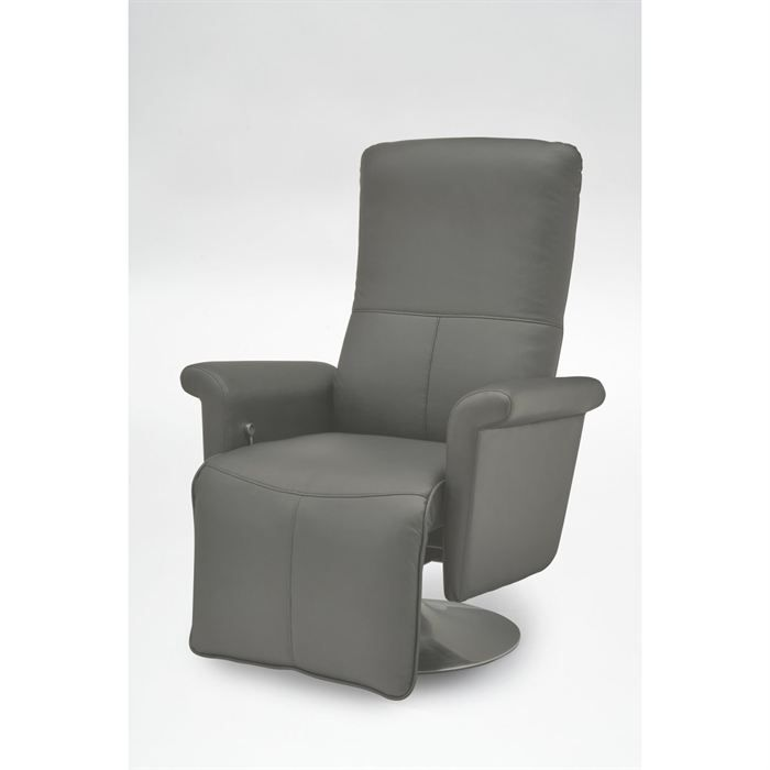 fauteuil relax sleepy gris achat vente fauteuil mati re de la structure m tal soldes d. Black Bedroom Furniture Sets. Home Design Ideas